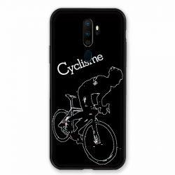 Coque pour Oppo A9 (2020) Cyclisme Ombre Blanche