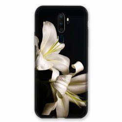 Coque pour Oppo A9 (2020) Fleur Lys Noir