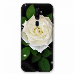 Coque pour Oppo A9 (2020) Fleur Rose Blanche