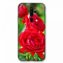 Coque pour Oppo A9 (2020) Fleur Rose Rouge