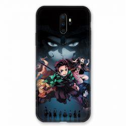 Coque pour Oppo A9 (2020) Manga Demon Slayer Noir
