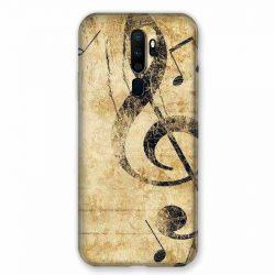 Coque pour Oppo A9 (2020) Musique Clé Sol Vintage