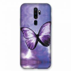 Coque pour Oppo A9 (2020) Papillon Violet et Blanc