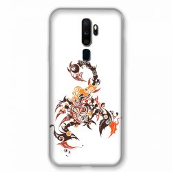 Coque pour Oppo A9 (2020) Scorpion Blanc