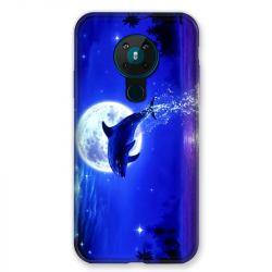 Coque pour Nokia Nokia 5.3 Dauphin Lune