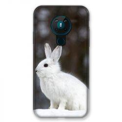 Coque pour Nokia Nokia 5.3 Lapin Blanc