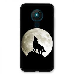 Coque pour Nokia Nokia 5.3 Loup Noir