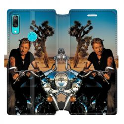 Housse cuir portefeuille pour Huawei Y6 (2019) / Y6 Pro (2019) / Y6S Johnny Hallyday Moto