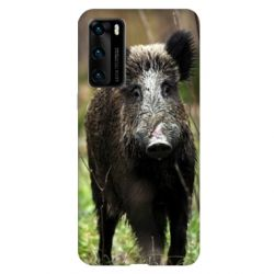 Coque pour Huawei P40 chasse sanglier bois