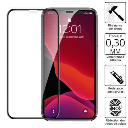 """Vitre protection / Verre trempé 3D incurvé pour Iphone 12 Pro Max (6,7"""")"""
