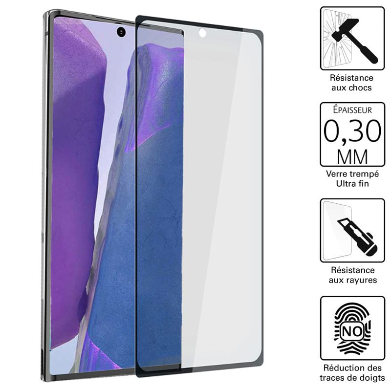 Vitre protection / Verre trempé 3D pour Samsung Galaxy Note 20