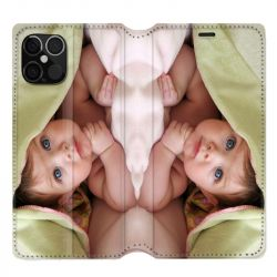 Housse Cuir Portefeuille pour Iphone 12 / 12 Pro (6.1) Personnalisee