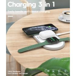 Chargeur Induction Triple Personnalisee (2.5W-5W-7.5W-10W)