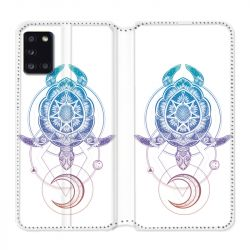 Housse cuir portefeuille pour Samsung Galaxy A31 Animaux Maori Tortue Color