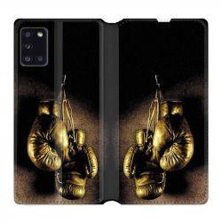 Housse cuir portefeuille pour Samsung Galaxy A31 Boxe Gant Vintage