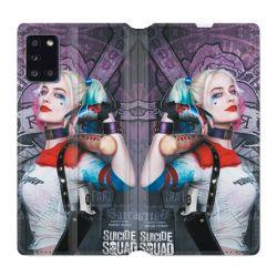 Housse cuir portefeuille pour Samsung Galaxy A31 Harley Quinn Batte