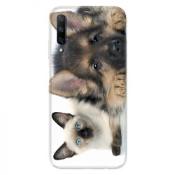 Coque pour Huawei Honor 9X Chien vs chat
