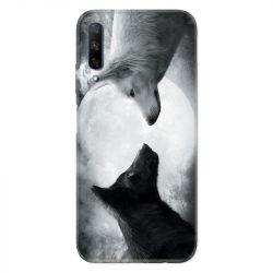 Coque pour Huawei Honor 9X Loup Duo