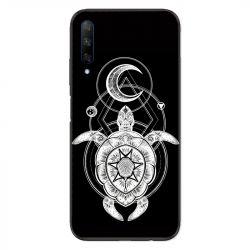 Coque pour Huawei Honor 9X Animaux Maori Tortue noir
