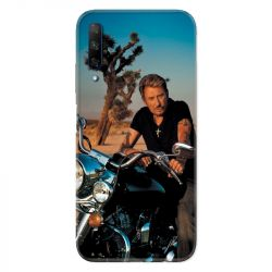 Coque pour Huawei Honor 9X Johnny Hallyday Moto
