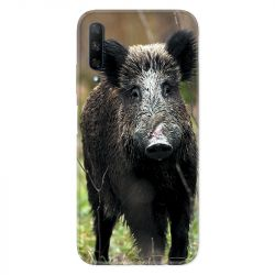 Coque pour Huawei Honor 9X chasse sanglier bois