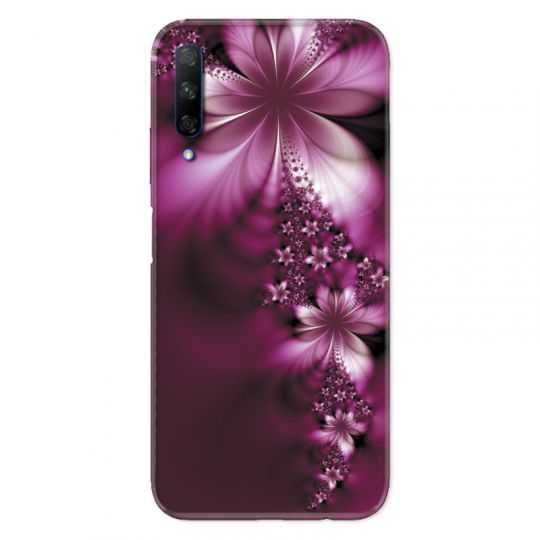 Coque pour Huawei Honor 9X fleur violette montante