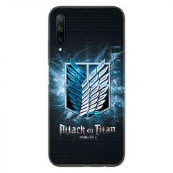 Coque pour Huawei Honor 9X Manga Attaque titans noir