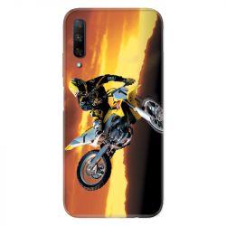 Coque pour Huawei Honor 9X Moto Cross Noir