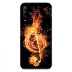 Coque pour Huawei Honor 9X Musique clé sol feu N