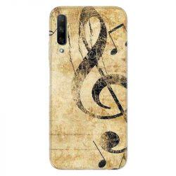 Coque pour Huawei Honor 9X Musique clé sol vintage
