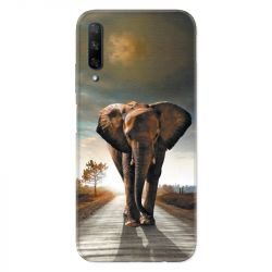 Coque pour Huawei Honor 9X savane Elephant route