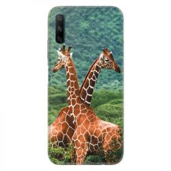 Coque pour Huawei Honor 9X savane Girafe Duo