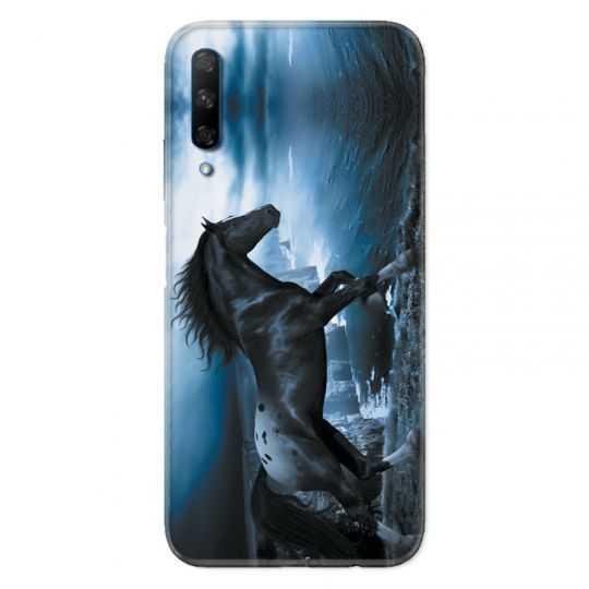 Coque pour Huawei Honor 9X Cheval Noir