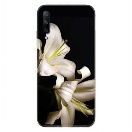 Coque pour Huawei Honor 9X Fleur Lys Noir