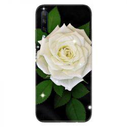 Coque pour Huawei Honor 9X Fleur Rose Blanche