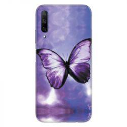 Coque pour Huawei Honor 9X Papillon Violet et Blanc