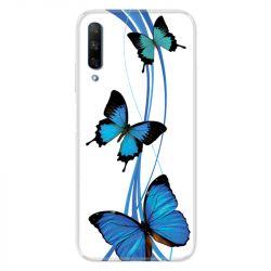Coque pour Huawei Honor 9X Papillon bleu sur Blanc