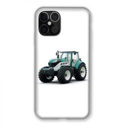 Coque Pour Iphone 12 / 12 Pro Agriculture Tracteur Blanc