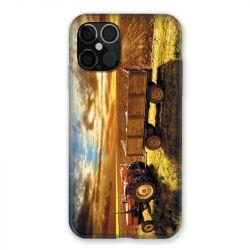 Coque Pour Iphone 12 / 12 Pro Agriculture Tracteur Color
