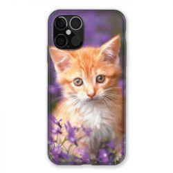 Coque Pour Iphone 12 / 12 Pro Chat Violet