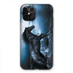 Coque Pour Iphone 12 / 12 Pro Cheval Noir