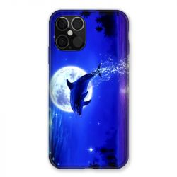 Coque Pour Iphone 12 / 12 Pro Dauphin Lune