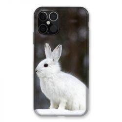 Coque Pour Iphone 12 / 12 Pro Lapin Blanc