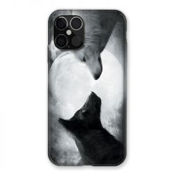 Coque Pour Iphone 12 / 12 Pro Loup Duo