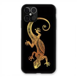 Coque Pour Iphone 12 / 12 Pro Animaux Maori Lezard Noir
