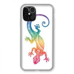 Coque Pour Iphone 12 / 12 Pro Animaux Maori Salamandre Color