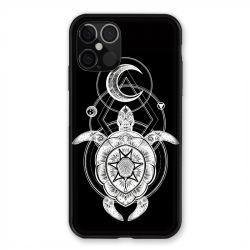 Coque Pour Iphone 12 / 12 Pro Animaux Maori Tortue Noir