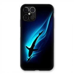 Coque Pour Iphone 12 / 12 Pro Requin Noir
