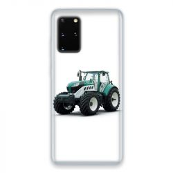 Coque pour Samsung Galaxy S20 Agriculture Tracteur Blanc