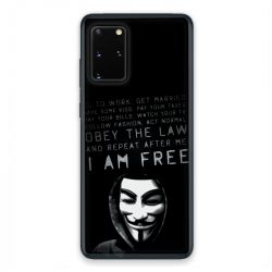 Coque pour Samsung Galaxy S20 Anonymous I am free